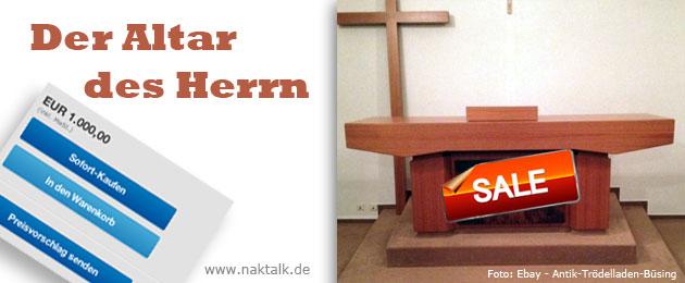 Verkauf NAK Kircheninventar Gemeinde Bodenfelde