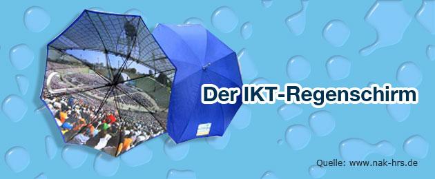 Der IKT Regenschirm NAK NRW