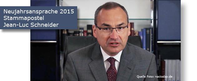 Neujahrsansprache 2015 Stammapostel Schneider
