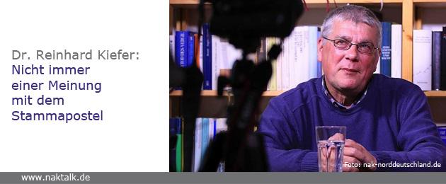 Dr. Reinhard Kiefer, nicht immer einer Meinung