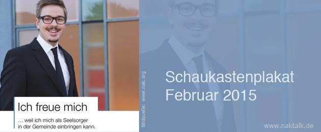 NAK Schaukastenplakat Februar 2015