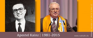 Apostel Kainz im Ruhestand