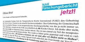 Offener Brief an Stammapostel Schneider - Pfingsten 2015