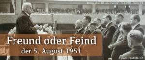 Der 5. August 1951 Stammapostelgottesdienst in Frankfurt am Main