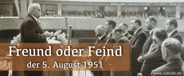 Der 5. August 1951 Stammapostelgottesdienst in Frankfurt am Main