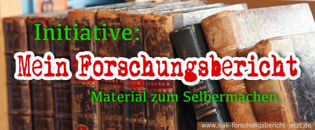 Initiative: Mein Forschungsbericht