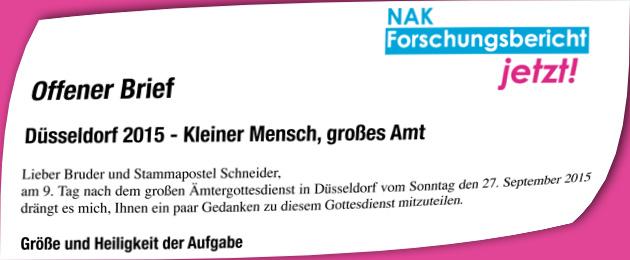NAK Ämtergottesdienst Düsseldorf - Kleiner Mensch, grosses Amt
