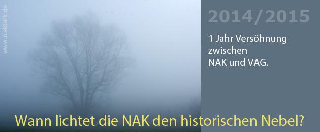 Ein Jahr Versöhnung zwischen NAK und VAG
