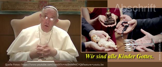 Gebetsaufruf Papst Franziskus Januar 2016