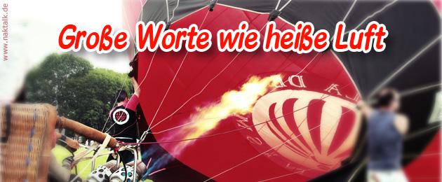 Stammapostel Schneider: Viel heiße Luft