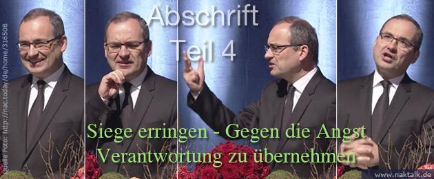 Stammapostel Schneider - Siegen über Angst zur Verantwortung