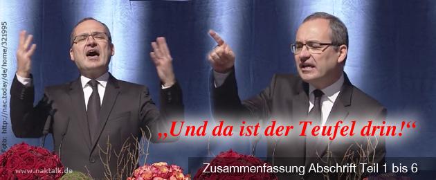 Stammapostel Schneider in Siegen - Zusammenfassung