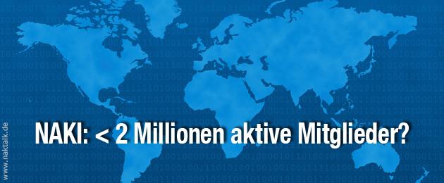 NAKI: Weniger als zwei Millionen aktive Mitglieder