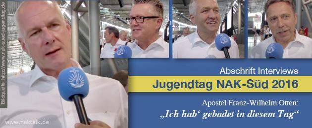 Abschrift Interviews Jugendtag 2016 NAK-Süd