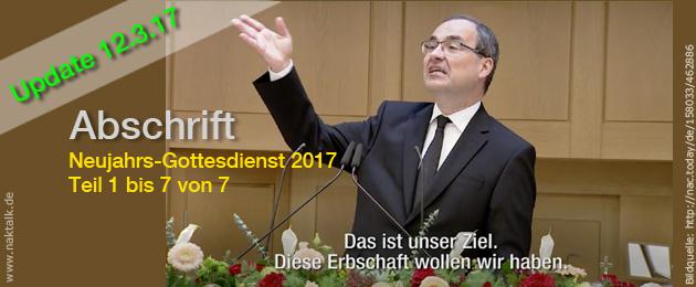 Abschrift NAK Gottesdienst 1.1.17 Schweiz