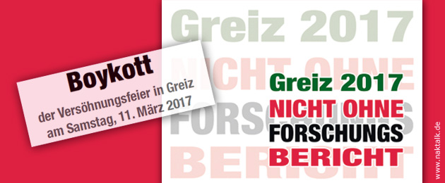 Boykott NAK Versöhnungsfeier Greiz 2017