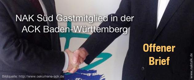 Offener Brief an die ACK Baden-Württemberg