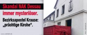 NAK Dessau Bezirksapostel Krause gegen Abriss