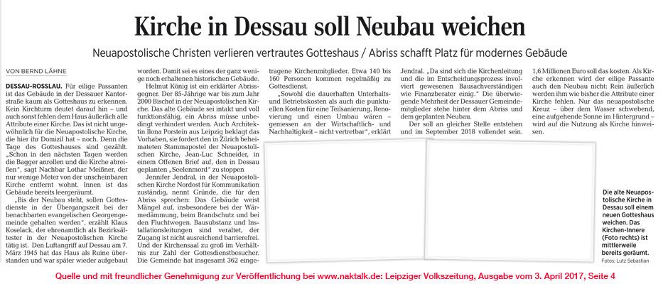Leipziger Volkszeitung NAK Dessau