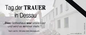 NAK Tag der Trauer in Dessau