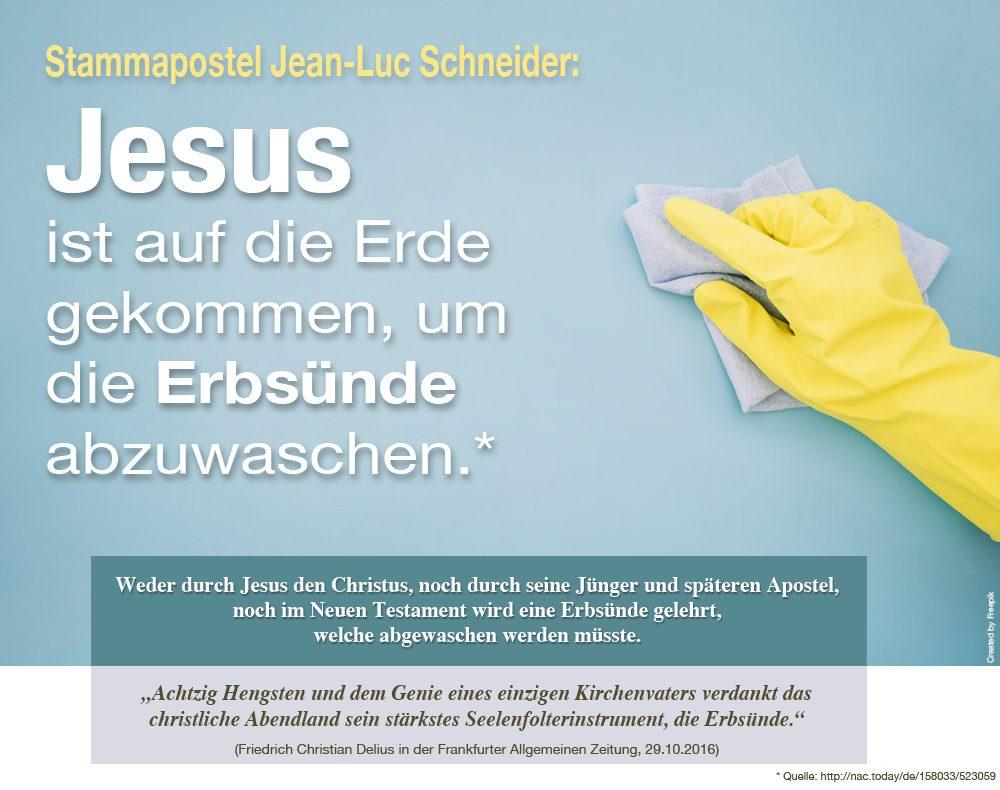 Jesus wäscht die Erbsünde ab
