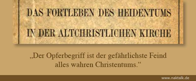 Der heidnische Opferbegriff im Christentum