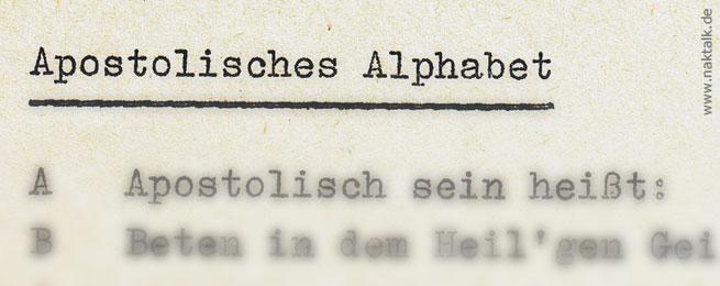 Apostolisches Alphabet 1978