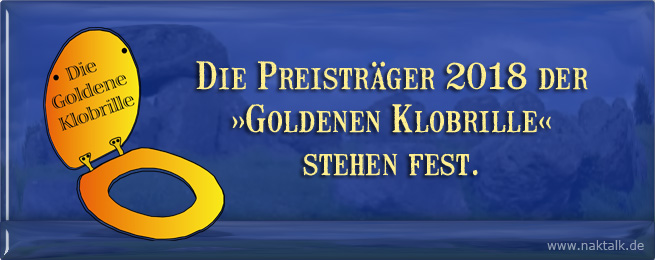 NAK Preisträger der Goldenen Klobrille