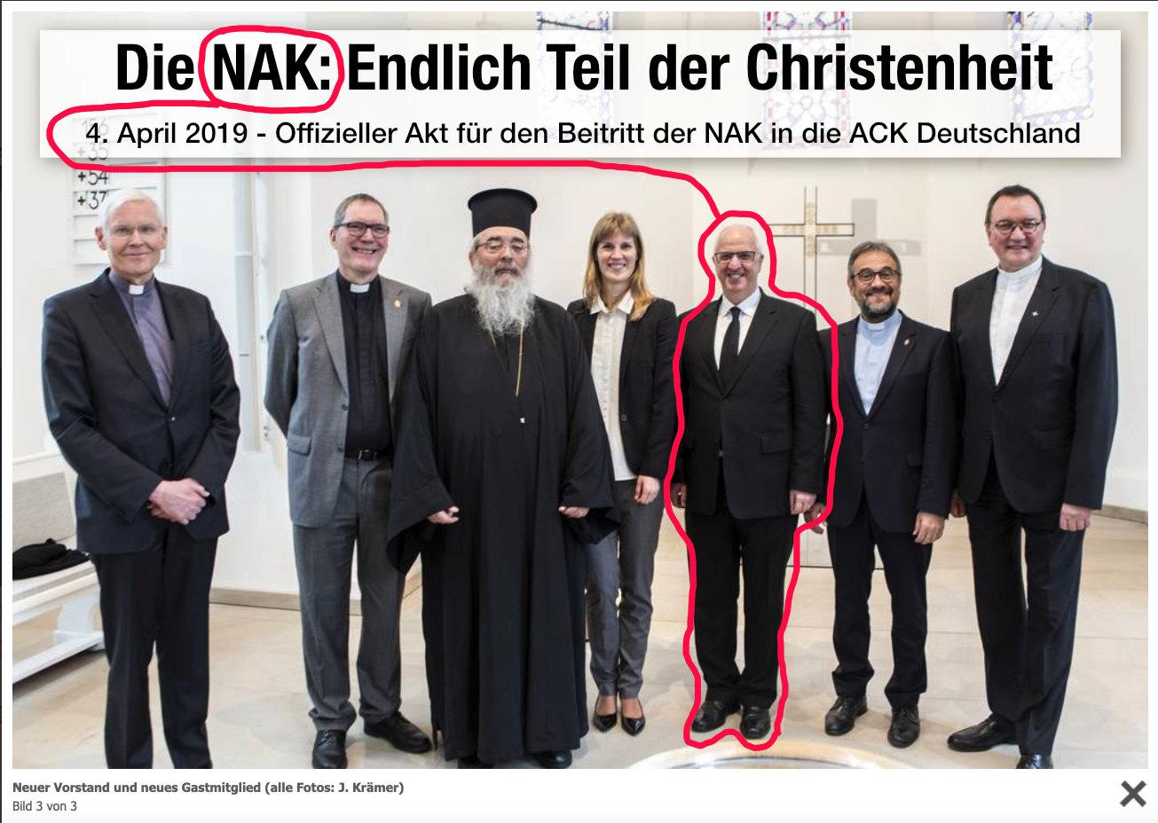 NAK - Endlich Teil der Christenheit