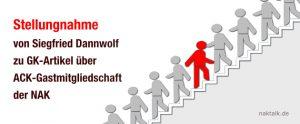 Stellungnahme Siegfried Dannwolf