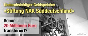 Geldspeicher Stiftung NAK Süddeutschland
