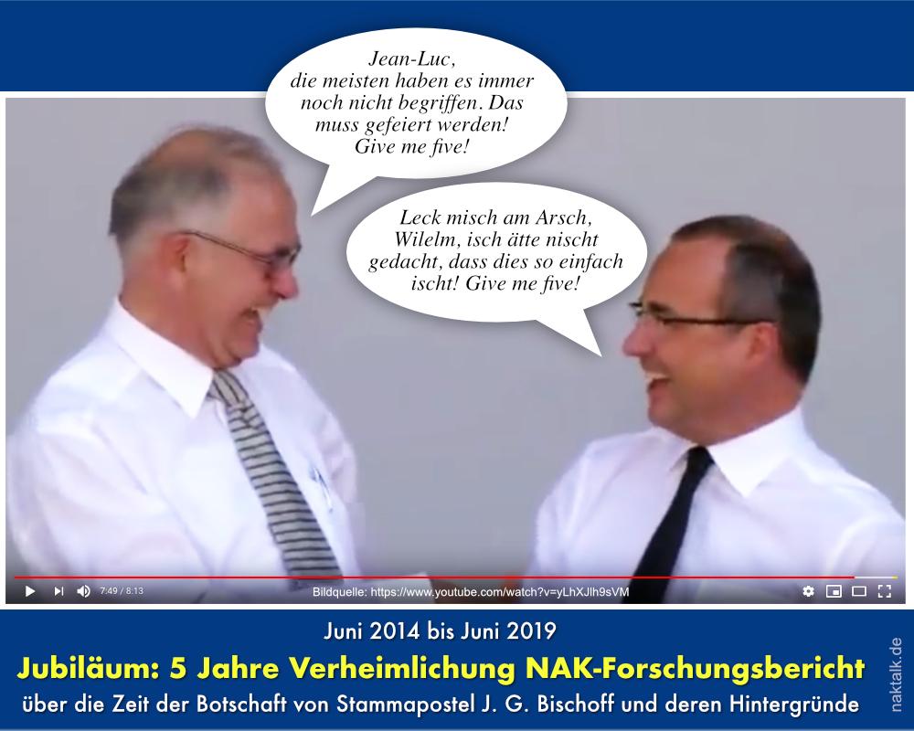 Jubiläum 5 Jahre Verheimlichung NAK-Forschungsbericht