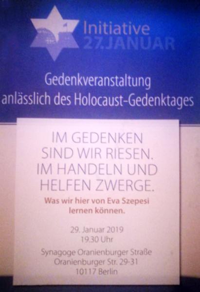 Gedenkveranstaltung Holocaust-Gedenktag