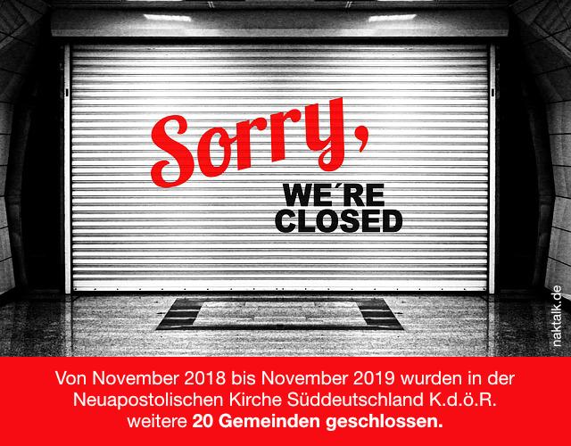NAK Wir haben geschlossen Stand November 2019