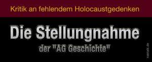 Holocaust-Kritik - Die Stellungnahme der AG Geschichte der NAK