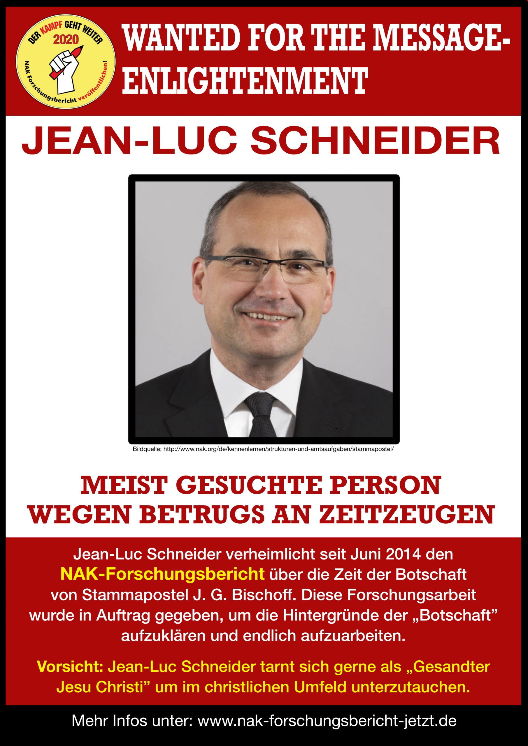 Most wanted person by Botschaft
