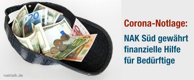 Corona-Notlage: NAK Süddeutschland bietet finanzielle Hilfen an