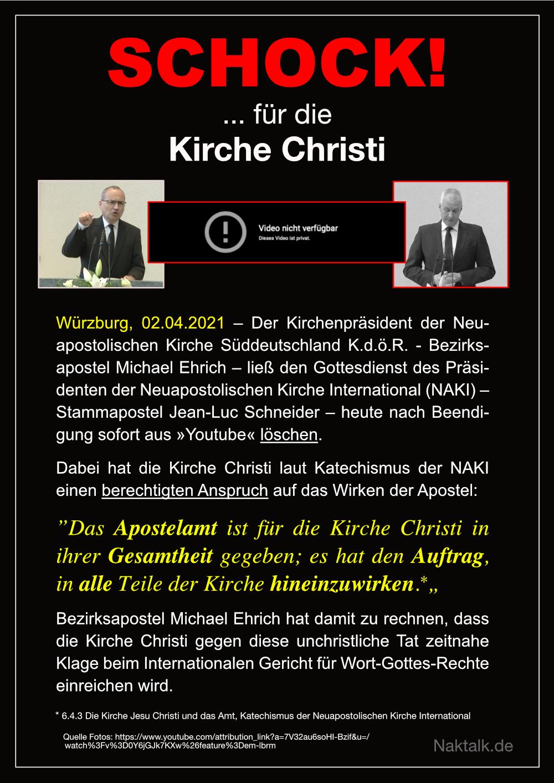 NAK – Schock für die Kirche Christi