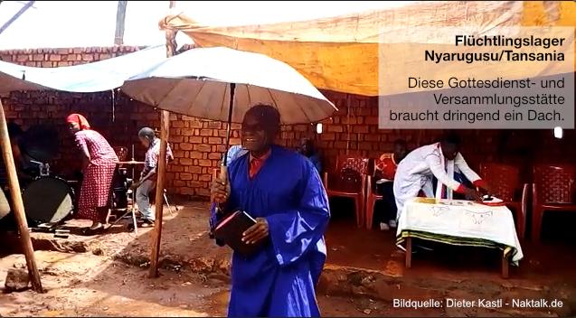 Gottesdienststätte in Nyarugusu Tansania braucht ein Dach